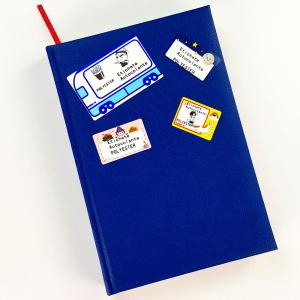 Etichete termice scolare 50 x 30mm LUNA, poliester alb, imprimate cu model LUNA, adeviz permanent, 1 rola, 230 etichete/rola, pentru imprimantele M110 si M2001