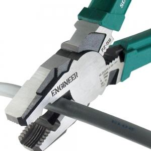 Cleste patent combinat ENGINEER PZ-59, extragere suruburi uzate, 200 mm, taie Ø3.2mm, fabricat in Japonia2