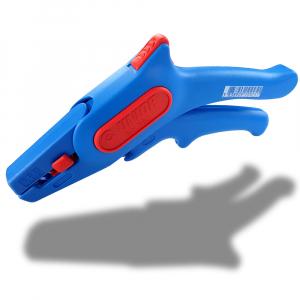 Cleste pentru dezizolat cablu, 380 UNIOR, albastru-rosu,160 mm,  6109253