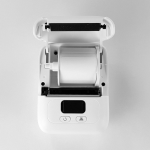 Imprimanta termica portabila Sanco Labelwriter M110 Bluetooth aparat de etichetat cu etichete in rola, acumulator Li-Ion 1500 mAh, incarcator la retea 230V, cablu date, rola suport etichete ajustabila10