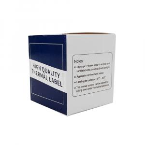 Etichete termice ecusoane/carduri mari 53 mm x 8 m, modul continuu neadezive, plastic alb, 1 rola, pentru imprimanta AYMO M2008