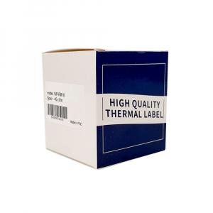 Etichete termice ecusoane/carduri mari 53 mm x 8 m, modul continuu neadezive, plastic alb, 1 rola, pentru imprimanta AYMO M2007