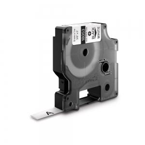 Etichete tub termocontractibil, DYMO ID1, 9mm x 1.5m, negru/alb, 18053, S0718280 DY180531