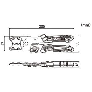 Cleste sertizare multifunctional ultra-precis ENGINNER PAD-13, cap sertizare interschimbabil, 205 mm, fabricat in Japonia9