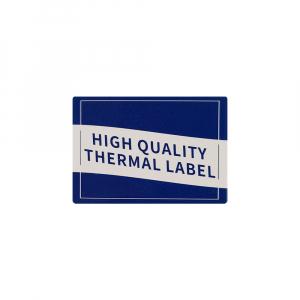 Etichete haine universale fata dubla cu ureche perforata exterioara 50 x 19mm model aripi paun, plastic alb, permanente, 1 rola, 250 etichete/rola, pentru imprimanta M110 si M2005