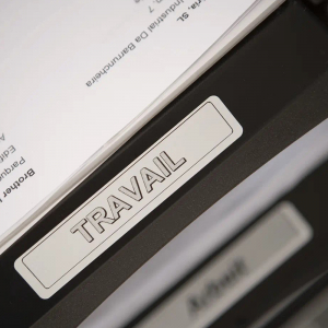 Etichete termice universale compatibile Brother DK-11204, 17mm x 54mm, hartie alba, adeziv permanent, 400 etichete/rola, suport din plastic inclus DK112021