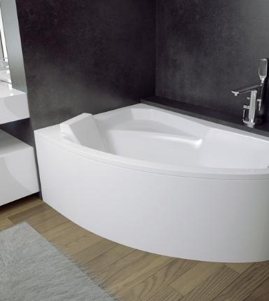 Cada baie asimetrica Besco Rima 150x95cm,
