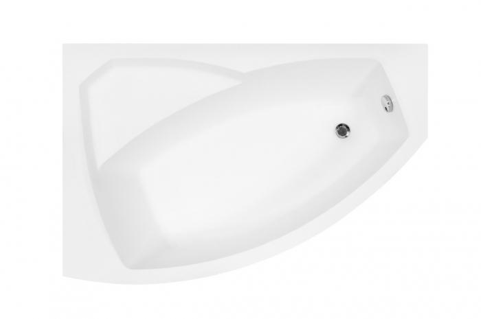 Cada baie asimetrica Besco Rima 150x95cm, acril, orientare stanga [1]