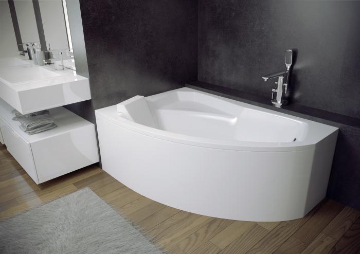 Cada baie asimetrica Besco Rima 150x95cm, acril, orientare stanga [0]