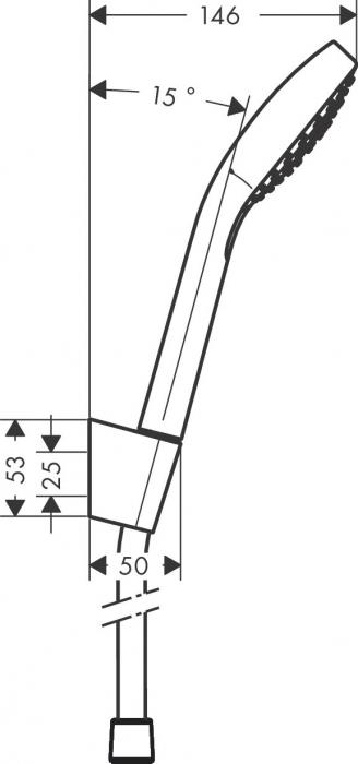 Set dus Hansgrohe Croma Select E Vario Porter cu para 110mm, agatatoare si furtun 1,6m, alb/crom [1]