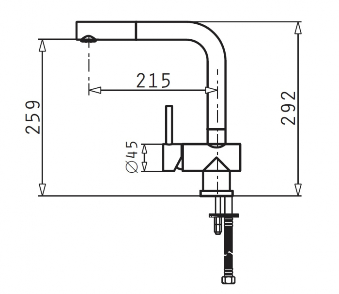 Baterie bucatarie Pyramis CAPRICCIO - inox [1]