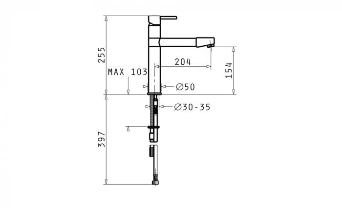 Baterie Bucatarie Pyramis Rota - crom [1]