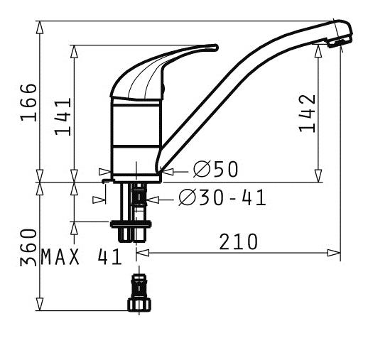 Baterie Bucatarie Pyramis Modo Grafit [1]