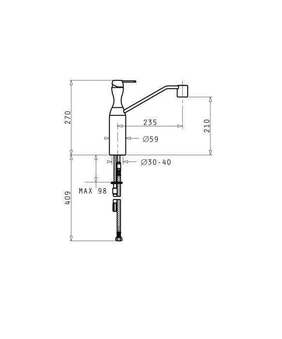 Baterie Bucatarie Pyramis Brioso - crom [1]