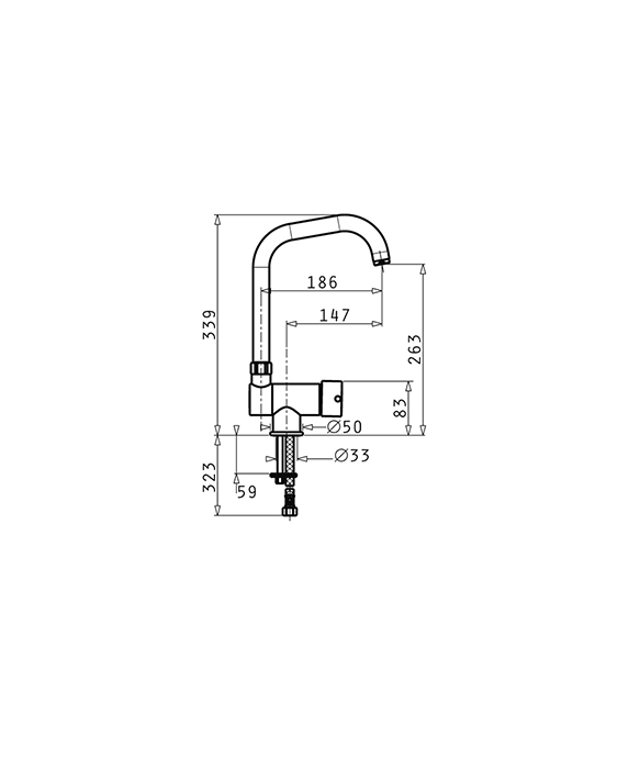 Baterie Bucatarie Pyramis Contralto Crom [1]