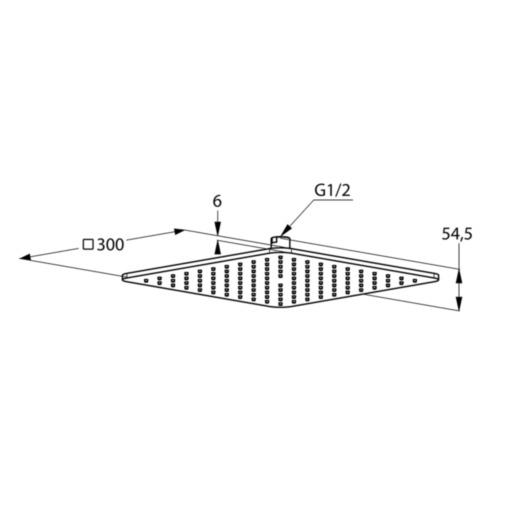 Palarie de dus Kludi A-QA Soft-Edge 300x300mm alb [1]
