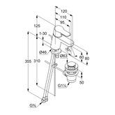 Baterie monocomanda lavoar 60 Kludi Pure&Easy DN 15 [1]