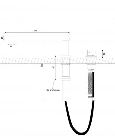 Baterie Bucatarie Pyramis SATELLITA Crom [1]