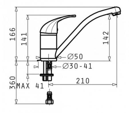 Baterie Bucatarie Pyramis Modo Iron Grey [1]