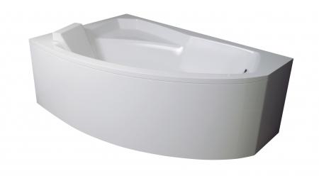 Cada baie asimetrica Besco Rima 150x95cm, acril, orientare stanga [2]