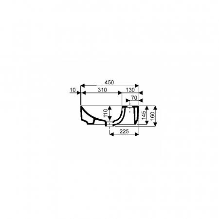 Lavoar pe blat Geberit Variform dreptunghiular cu preaplin 60x45 cm [2]