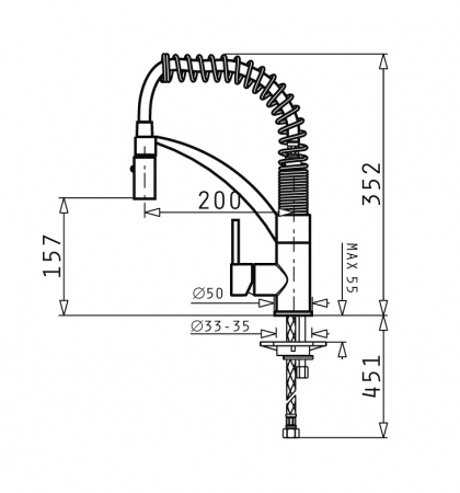 Baterie Bucatarie Pyramis Mini Cresento - crom [1]