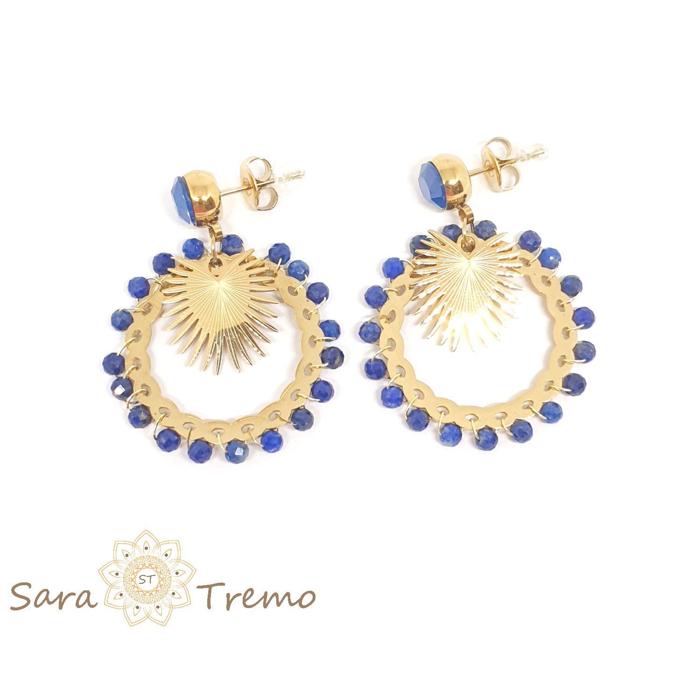 Cercei cu lapis lazuli