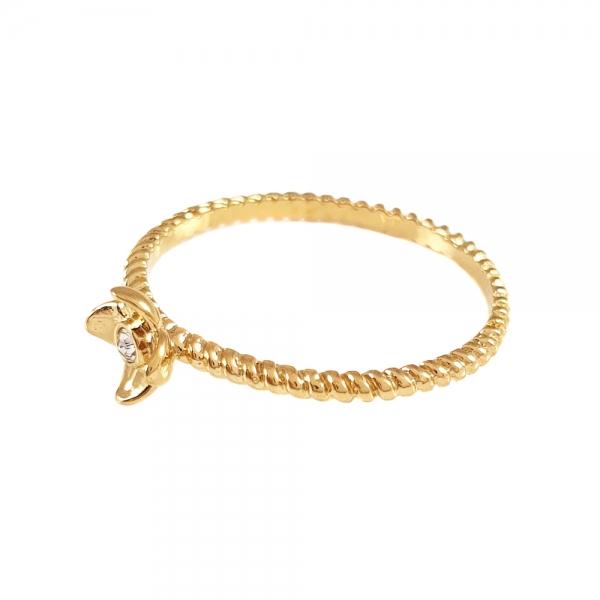 Inel de logodna placat cu aur SaraTremo 0