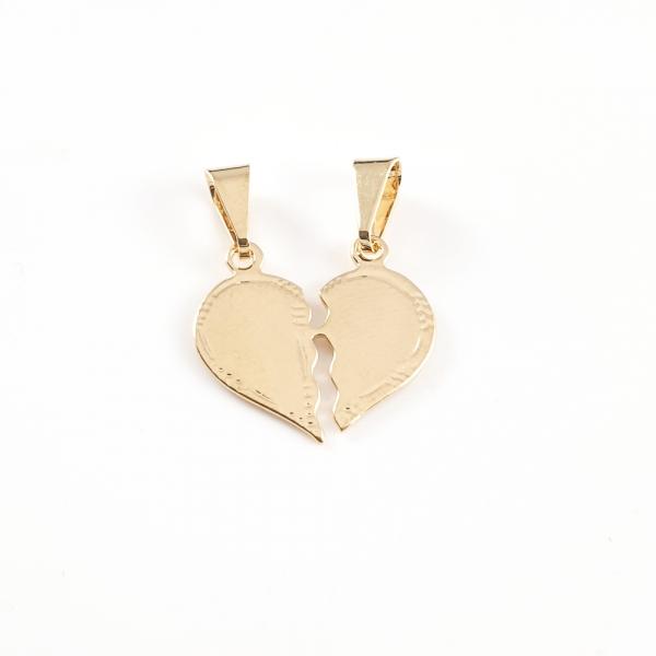 Pandantiv personalizabil placat cu aur Hearts