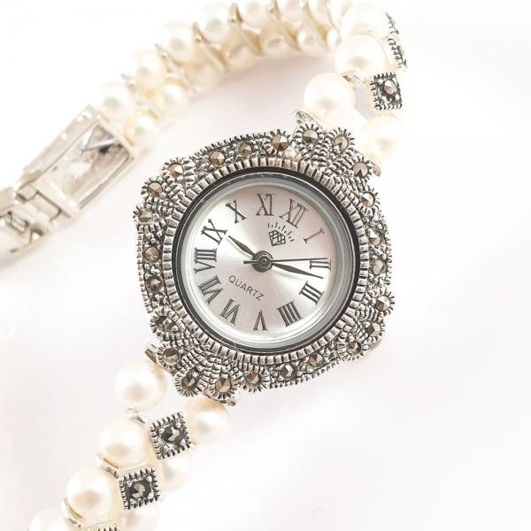 Ceas din argint masiv Queen by SaraTremo edenboutique imagine 2021