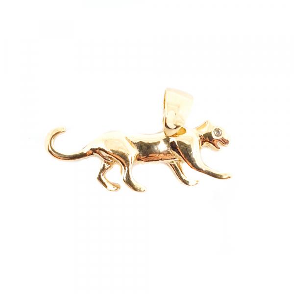 Talisman pentru barbati placat cu aur Jaguar 0