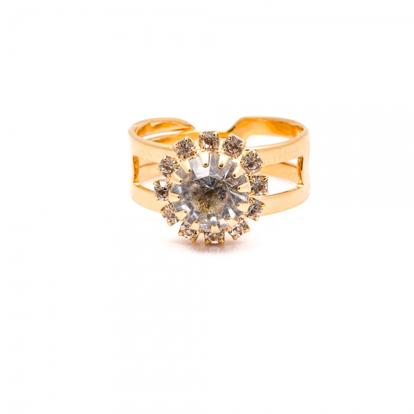 Inel placat cu aur 18 K Rock & Shine 1