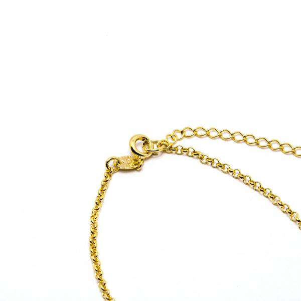 Bratara cu inimioara placata cu aur Island 18-23 cm 2