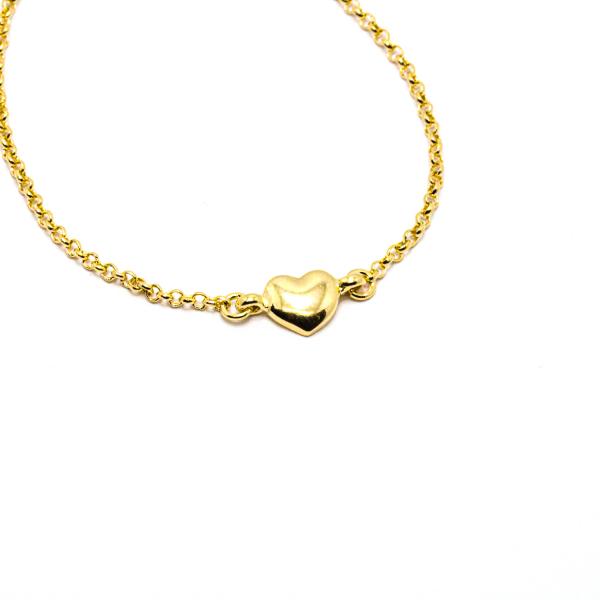 Bratara cu inimioara placata cu aur Island 18-23 cm 1