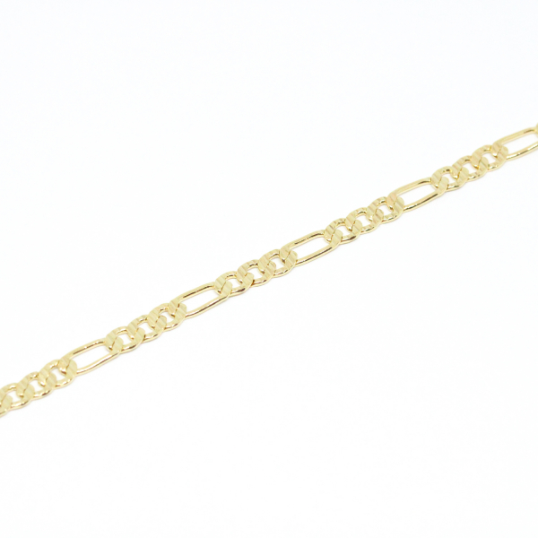 Bratara lata pentru barbati placata cu aur 21 cm Basic Instinct 0