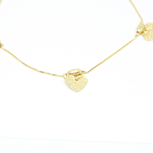Bratara pentru glezna placata cu aur 25-30 cm Techno 1