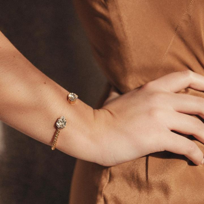 Bratara cu cristale Swarovski dublu-placata cu aur Caroline S. [1]
