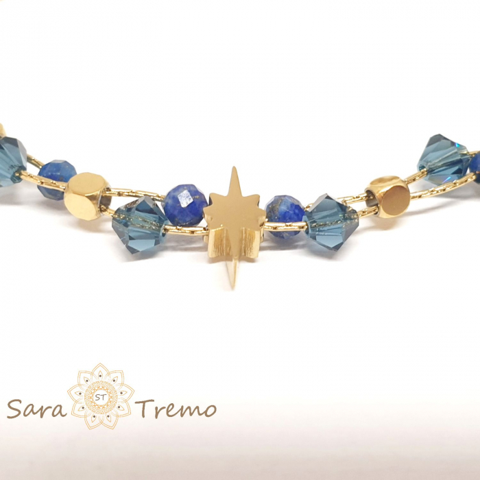 Bratara cu pietre naturale Lapis Lazuli [2]