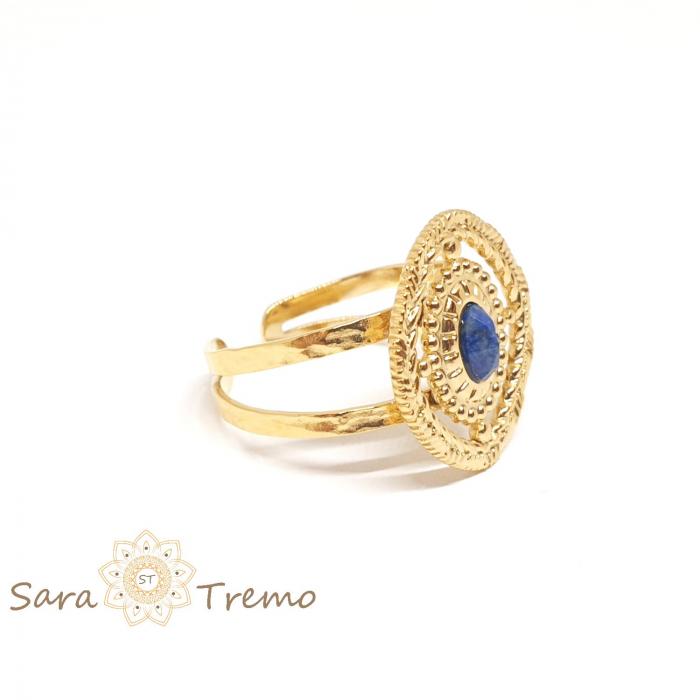 Inel cu piatra naturala Lapis Lazuli [0]