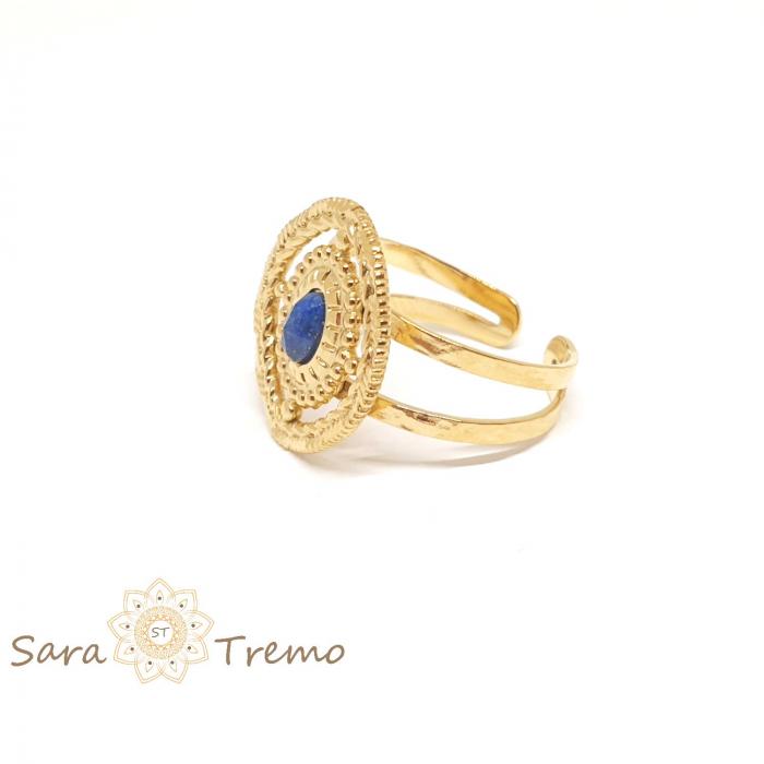 Inel cu piatra naturala Lapis Lazuli [2]