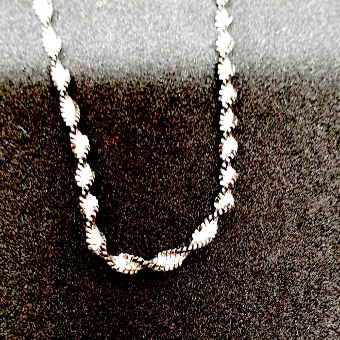 Bratara din argint impletita cu rodiu Rhodium [1]