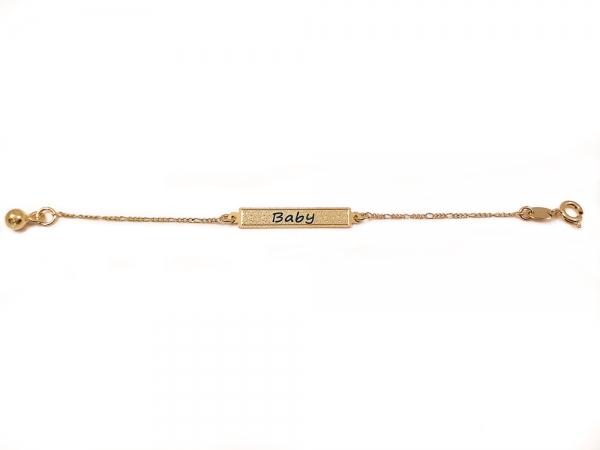 Bratara pentru copii placata cu aur SaraTremo 3