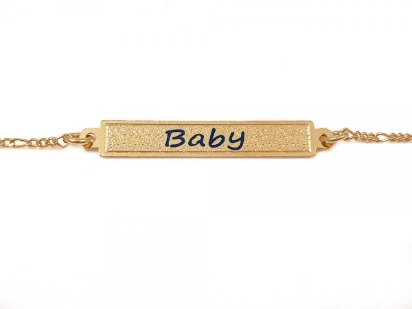 Bratara pentru copii placata cu aur SaraTremo 2