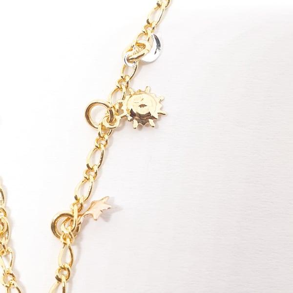 Bratara pentru glezna placata cu aur Cupio 2