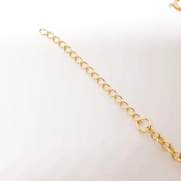 Bratara pentru picior placata cu aur 25-30 cm Rainbow [5]