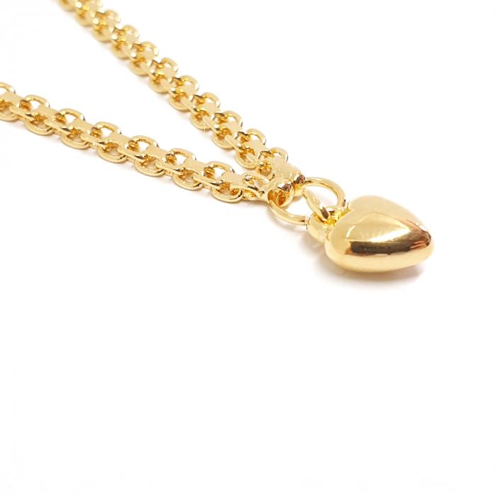 Bratara de picior luxury placata cu aur 25 cm Flow of Love [3]