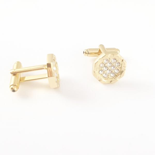 Butoni pentru camasa placati cu aur Invictus