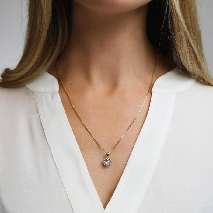 Colier cu cristal Swarovski dublu-placat cu aur Caroline S. [1]