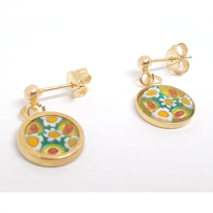 Cercei cu sticla de Murano cu montura placata cu aur Venezzia [1]