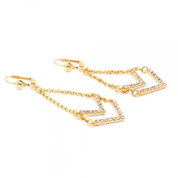 Cercei placati cu aur SaraTremo 0